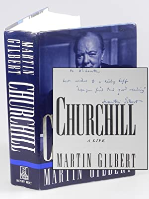 Churchill: A Life, inscribed by the author