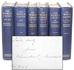 The World Crisis, full set of six British first edition, first printings, with a pre-publication ...