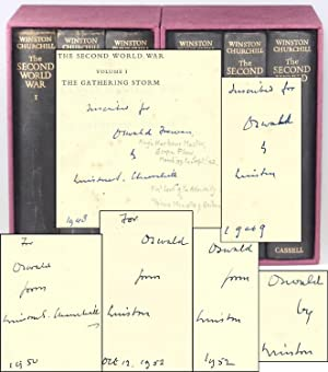 The Second World War, a full set of six British first editions, inscribed in every volume by Chur...