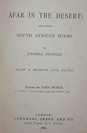 Afar in the Desert: and other South African Poems: Thomas Pringle