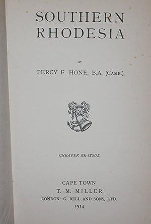 Southern Rhodesia: Percy F. Hone