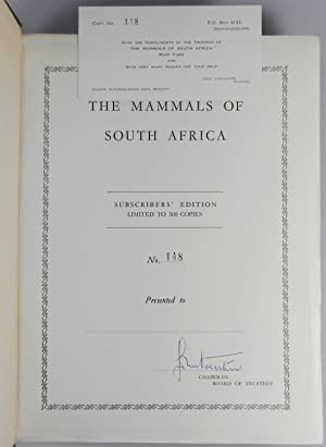 The Mammals of South Africa, the finely bound subscriber's edition, #148 of 500: Austen ...
