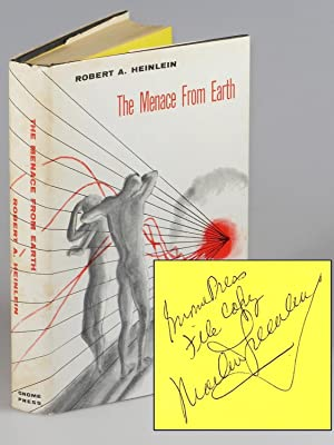 The Menace From Earth, the publisher's file copy of the first edition, signed by the publisher