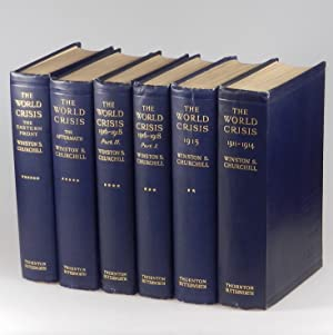 The World Crisis, full set of six British first edition, first printings, a beautiful set with no...