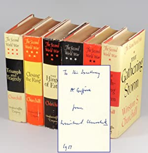 The Second World War, full set of six U.S. first editions, inscribed by Churchill to U.S. Ambassa...