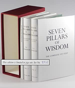 Seven Pillars of Wisdom: a triumph, the complete 1922 'Oxford' text, three volume limited...