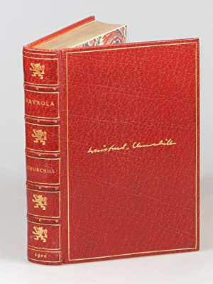 Savrola, finely bound in full red morocco by Bayntun Riviere