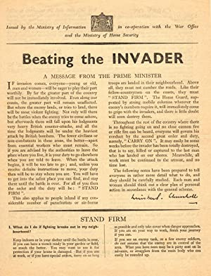 Beating the Invader: Winston S. Churchill