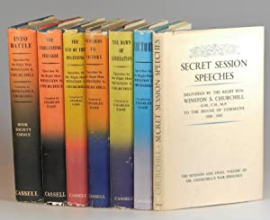 The War Speeches, British first editions - Into Battle, The Unrelenting Struggle, The End of the ...
