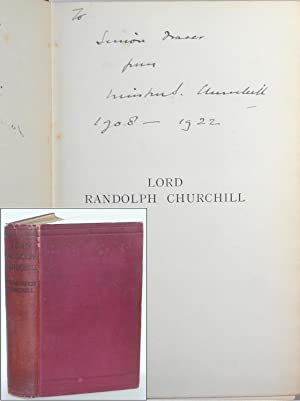 Lord Randolph Churchill, inscribed by Churchill to Brigadier-General Simon Fraser