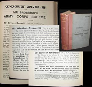 Tory M.P.s on Mr. Brodrick's Army Corps Scheme, bound in Pamphlets & Leaflets for 1903, ...
