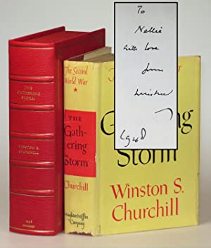 The Gathering Storm, the first volume of Churchill's history of the Second World War, warmly insc...