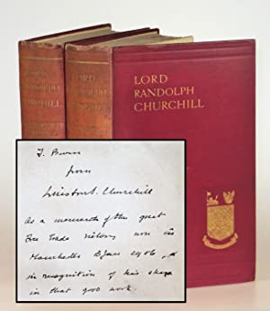Lord Randolph Churchill, a presentation set gratefully inscribed in the year of publication to th...