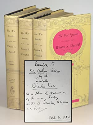The War Speeches of the Rt. Hon. Winston S. Churchill, presentation set inscribed on the day of p...