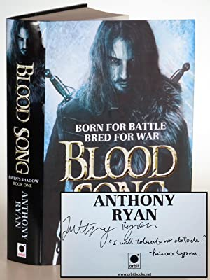 Blood Song, signed and dated by the author with a quote from the book