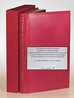 T. E. Lawrence's Correspondence with Edward and David Garnett, the finely bound full goatskin lim...