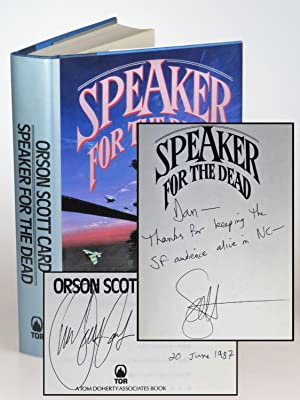 Speaker for the Dead, a superlative first printing with the author's full, dated signature and an...