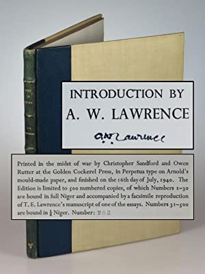 Men In Print, the first, limited edition, #262 of 500, signed by T. E. Lawrence's brother and lit...