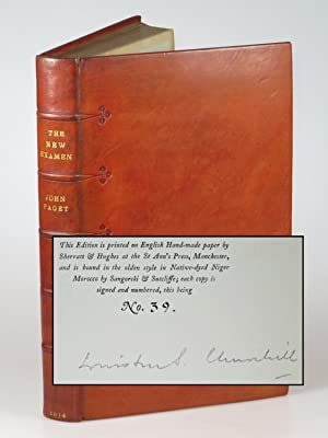 The New Examen, the publisher's Limited Edition, signed by Winston Churchill, bound by Sangorski ...