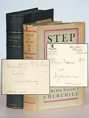 Step By Step, Princess Marthe Bibesco's copy inscribed and dated by Churchill and presented by Ch...