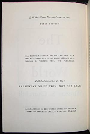 A History of the English-Speaking Peoples, Volume II, PUBLISHER'S PRESENTATION EDITION: Winston...