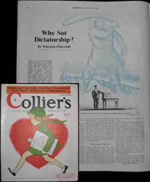 """Why Not Dictatorship?"""" by Winston Churchill in Collier's, 16 February 1935: Winston S. ..."""