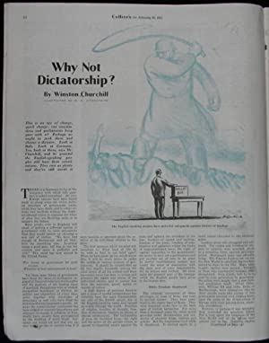 "Why Not Dictatorship?"" by Winston Churchill in Collier's, 16 February 1935: Winston S. ..."