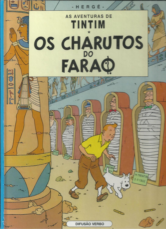 AS AVENTURAS DE TINTIM - OS CHARUTOS DO FARAO - HERGÉ