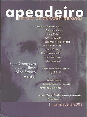 APEADEIRO. Revista de atitudes literárias. Nº 1.