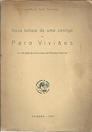 NOVA LEITURA DE UMA CANTIGA DE PERO: TAVARES, Aurélio Pais