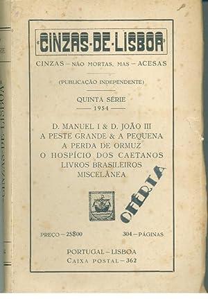 CINZAS DE LISBOA - QUINTA SÉRIE -: POMBO, Pe. Ruela