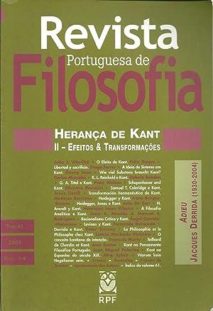 REVISTA PORTUGUESA DE FILOSOFIA: Herança de Kant.: VILA-CHÃ, João J.