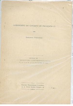 A PROPÓSITO DO CONCEITO DE PSICOPATIA: FERNANDES, Barahona