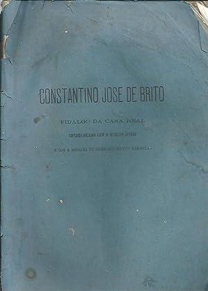 CONSTANTINO JOSÉ DE BRITO: Fidalgo da Casa: HENRIQUES, Henrique Carlos