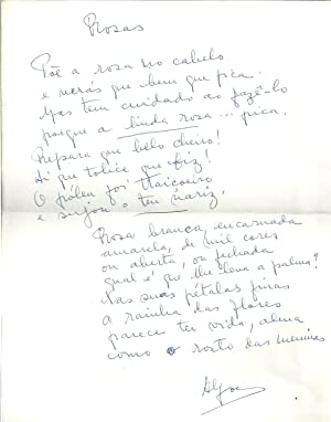 MANUSCRITO - Rosas (Poema)