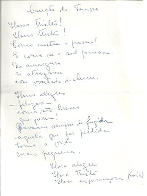 MANUSCRITO - Canção do Tempo (Poema)