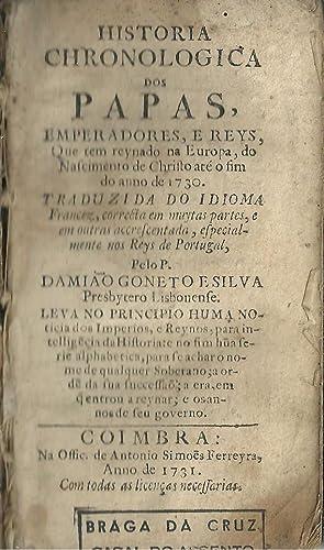 HISTORIA // CHRONOLOGICA // DOS // PAPAS,: SILVA, Damião Goneto