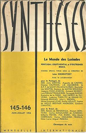SYNTHÈSES: Revue Internacionale - LE MONDE DES: KOCHNITZKY, Léon (Direction)