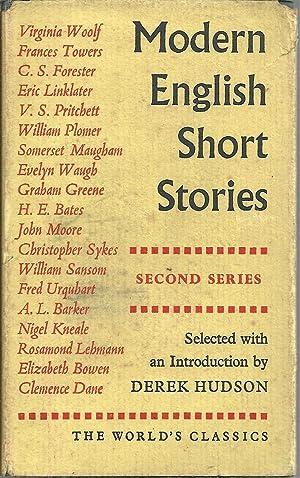 MODERN ENGLISH SHORT STORIES (Second Series): HUDSON, Derek (Selected