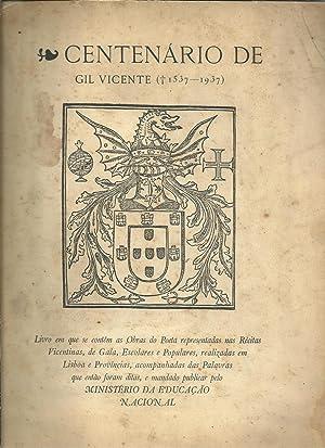 CENTENÁRIO DE GIL VICENTE. Livro em que