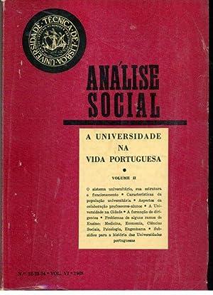 ANÁLISE SOCIAL N 22- 23- 24. Vol.: REVISTA