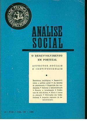 ANÁLISE SOCIAL N 27 - 28. Vol.: REVISTA