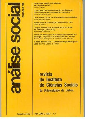 ANÁLISE SOCIAL, VOLUME XXIII, Número 95: REVISTA