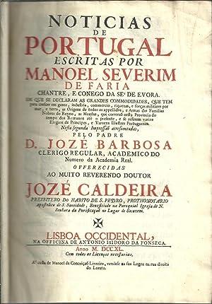 NOTICIAS DE PORTUGAL / Escritas por (.): FARIA, Manoel Severim