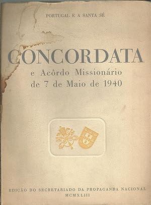 PORTUGAL E A SANTA SÉ: CONCORDATA E