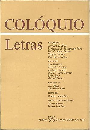 COLÓQUIO LETRAS Nº 99 Setembro - Outubro: REVISTA
