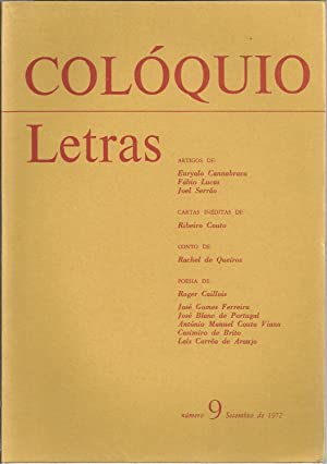 COLÓQUIO LETRAS Nº 9. Setembro de 1972: REVISTA