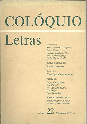 COLÓQUIO LETRAS Nº 22. Novembro de 1974: REVISTA