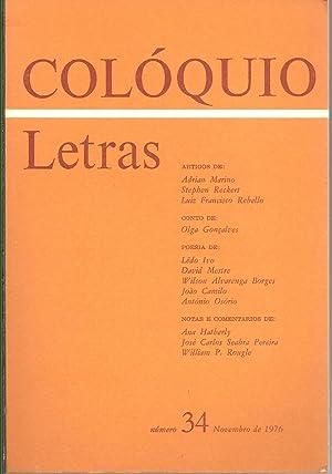 COLÓQUIO LETRAS Nº 34. Novembro de 1976: REVISTA