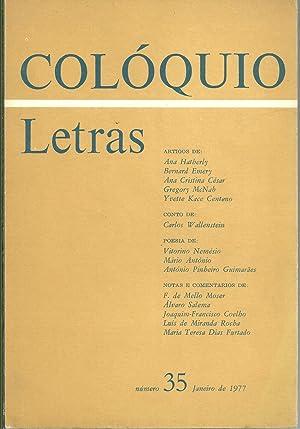 COLÓQUIO LETRAS Nº 35. Janeiro de 1977: REVISTA